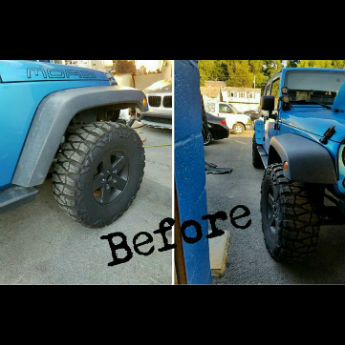 Blue Jeep Before
